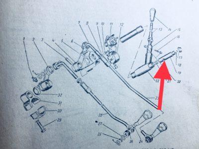 Палец направляющий вала переключения передач (ОРИГИНАЛ)