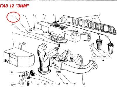Прокладка между впускной трубой и выпускным трубопроводом ( ОРИГИНАЛ )
