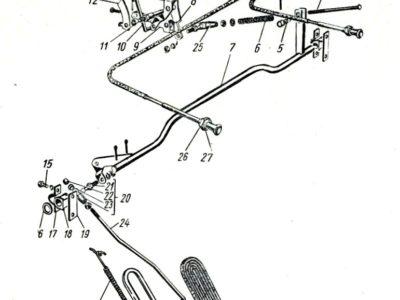 Втулка тросов подсоса и ручного газа ГАЗ-21 3 мод. к-кт