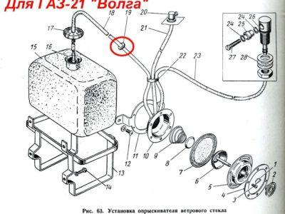 Втулка шланга стеклоомывателя ГАЗ-21/24/13