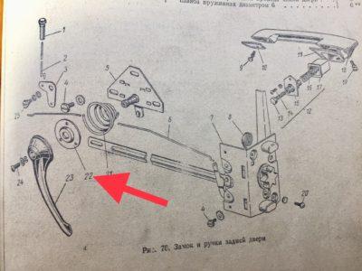 Розетка внутренней ручки двери ГАЗ-21 (ОРИГИНАЛ)