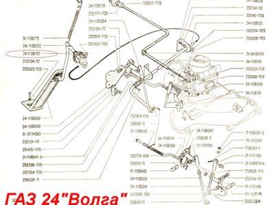 Уплотнитель тяги педали газа ГАЗ-24 (ОРИГИНАЛ)