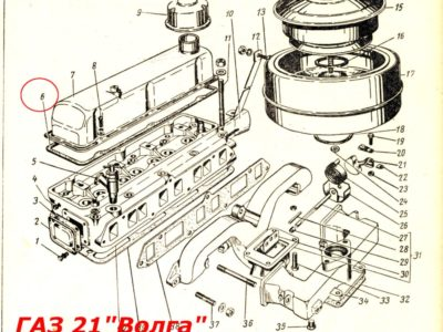 Прокладка клапанной крышки ГАЗ-21/24