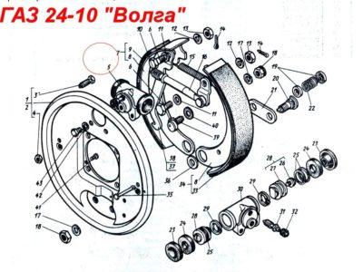 Цилиндр колесного тормоза передний- задний
