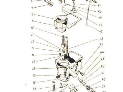 Прокладка между карбюратором и коллектором