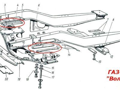 Прокладки крепления балки ГАЗ-21/М20