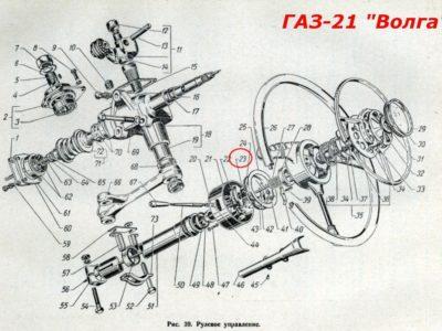 Кольцо стопорное втулки колонки рулевого управления (ОРИГИНАЛ)