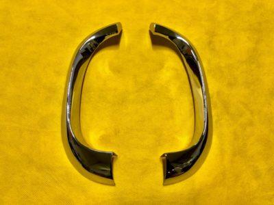 Накладка декоративная переднего крыла «усы» решетки радиатора ГАЗ-21 3модель (ОРИГИНАЛ/ПЕРЕХРОМ)