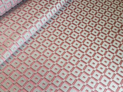 Ткань обшивки салона ГАЗ 21 Розовый «квадрат»