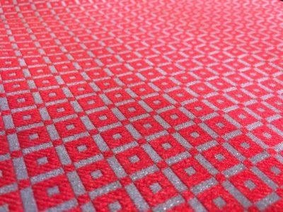 """Ткань обшивки салона ГАЗ 21 Красный """"квадрат"""""""