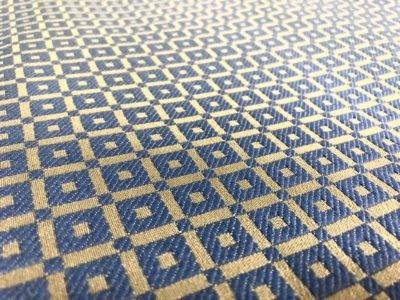 Ткань обшивки салона ГАЗ 21 Синий «квадрат»