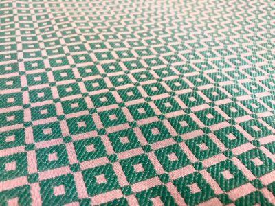 Ткань обшивки салона ГАЗ 21 Зеленый «квадрат»