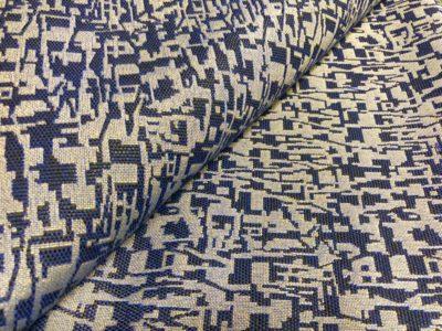 Ткань обшивки салона ГАЗ 21 Синий «абстракция»