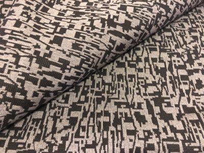 Ткань обшивки салона ГАЗ 21 Черный «абстракция»