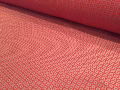 Ткань обшивки салона ГАЗ 21 Красный «квадрат»