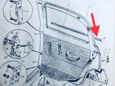 Накладка декоративная задней двери поясная задняя правая ГАЗ-21 (ОРИГИНАЛ)