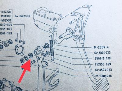 Втулка оси привода выключения сцепления ГАЗ-24