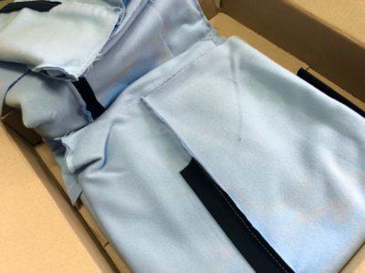 Обшивка потолка раскроенная и сшитая 1/2 модель голубая
