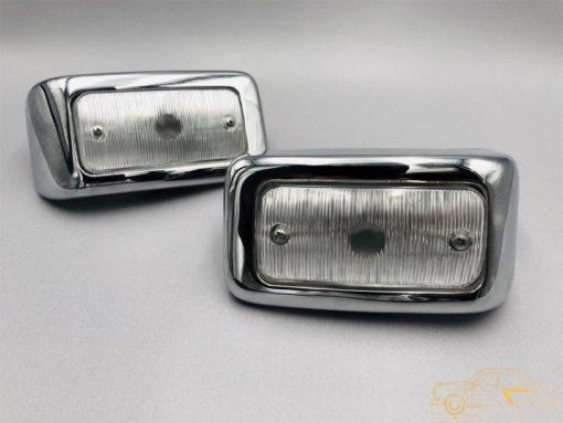 Подфарники передние в сборе ГАЗ-21 2 мод. (ОРИГИНАЛ/ПЕРЕХРОМ) к-кт