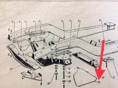Брызговик двигателя (левый-правый) ГАЗ-12