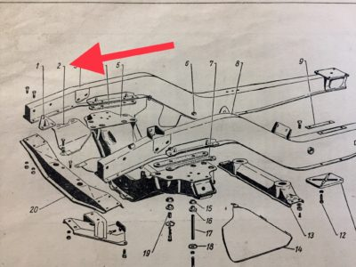 Брызговик двигателя передний (левый-правый) ГАЗ-12