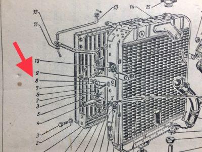 Пластина бокового крепления радиатора пружинная левая ГАЗ-12