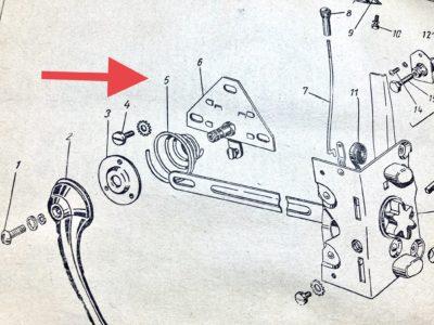 Пружина натяжная внутренней ручки двери ГАЗ-21