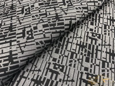 """Ткань обшивки салона ГАЗ-21 Черный """"абстракция"""" 64-68г.в."""