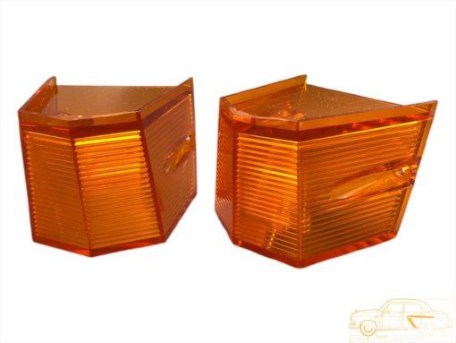 Рассеиватель задний оранжевый ГАЗ-21 3 мод. к-кт (ОРИГИНАЛ)